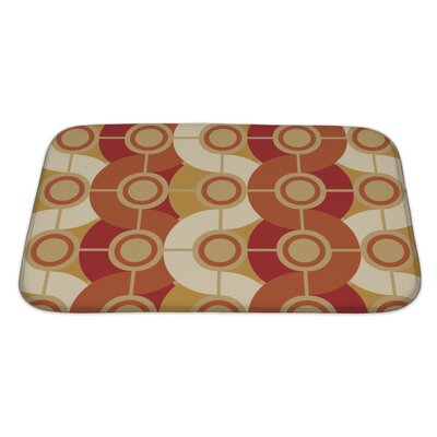 Beta Circle Retro Abstract Bath Rug Size: Large