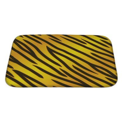 Gamma Tiger Striped Bath Rug Size: Large