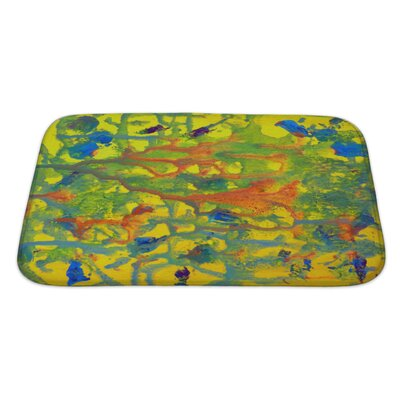 Art Touch Abstract Colorful Painted on Paper Bath Rug Size: Large
