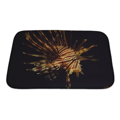 Fish Pterois Antennata Ragged Finned Firefish Lionfish Broadbarred Bath Rug Size: Small