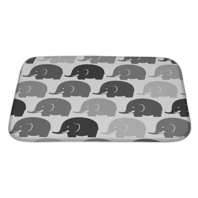 Animals Elephants Bath Rug Size: Large