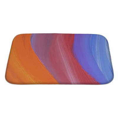 Art Primo Abstract Acrylic and Watercolor Painted Bath Rug Size: Large