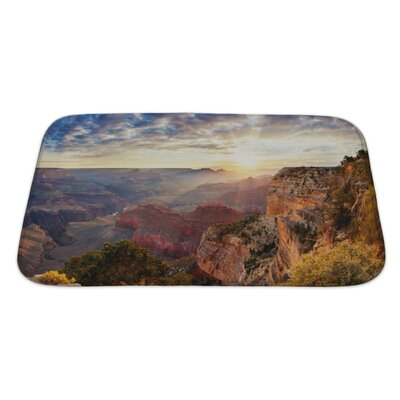 Landscapes Grand Canyon Sunrise, Horizontal View Bath Rug Size: Large