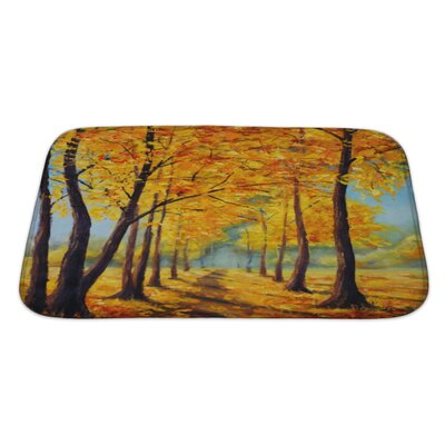 Landscapes High Autumn Trees, Autumn Harmony Bath Rug Size: Large