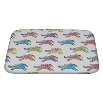 Animals Funny Doodle Sketch Style Animals Bath Rug Size: Large