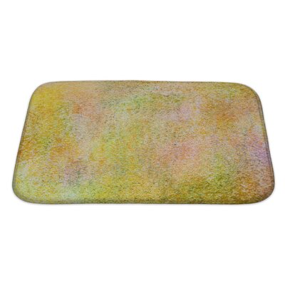 Art Primo Grain Abstract Acrylic Hand Painted Bath Rug Size: Large