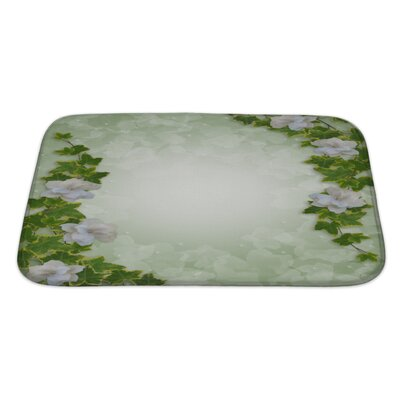 Alpha Flowers Bath Rug Size: Large