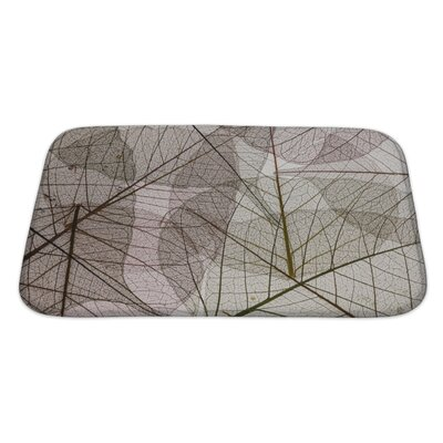 Leaves Leaves Silhouette Bath Rug Size: Large