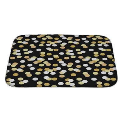 Slide Confetti Graduation Bath Rug Size: Large