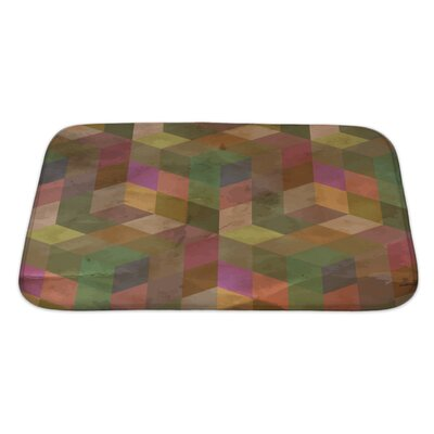 Delta Vintage Geometric Bath Rug Size: Large, Color: Sand