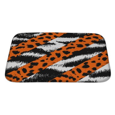 Animals Leopard, Cheetah and Tiger Skin Pattern Bath Rug Size: Large