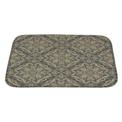 Primo Damask Pattern Fine Traditional Ornament with Oriental Elements Bath Rug Size: Large