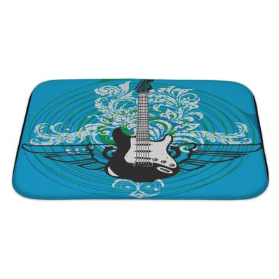 Instruments Abstract Electric Guitar Bath Rug Size: Large