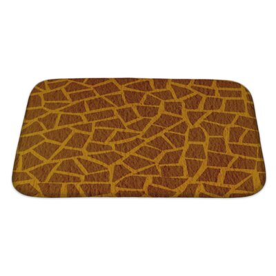 Simple Giraffe Leather Bath Rug Size: Large