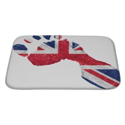 Human Touch Britain British Flag Painted In a Shape of Footprint Bath Rug Size: Large