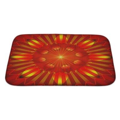 Alpha Sun Grunge Bath Rug Size: Large