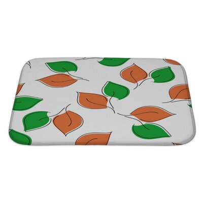 Leaves Leaf Bath Rug Size: Large