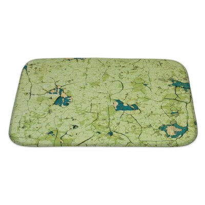 Wood Old Wall Covered with Cracked Paint Bath Rug Size: Large