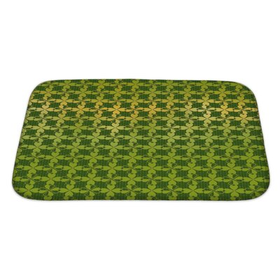 Simple Ornament of Stylized Leaf Clover Bath Rug Size: Large