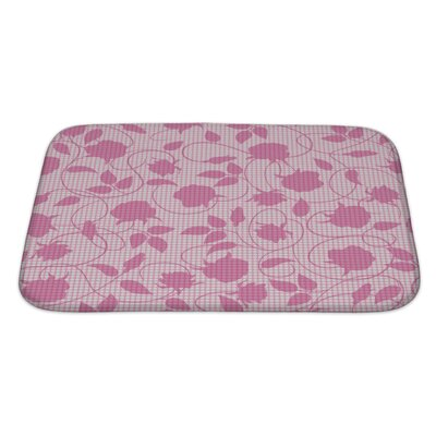 Slide Silhouette of Flowers and Leaves Bath Rug Size: Large