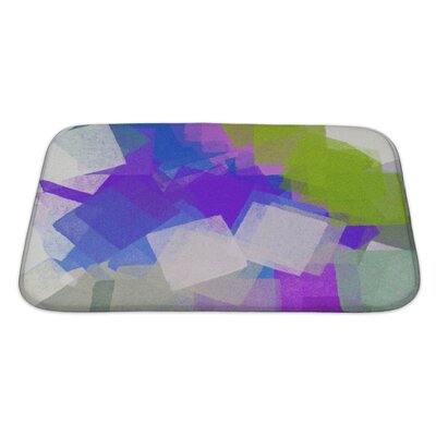 Art Beta Square Colorful Paint Brush Strokes Modern Impressionist Bath Rug Size: Large