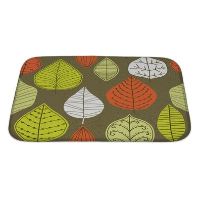Leaves a Pattern with Leaf, Autumn Leaf Bath Rug Size: Large