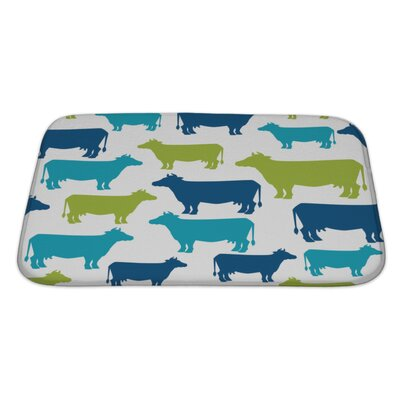 Animals Cow Silhouette Pattern Bath Rug Size: Large