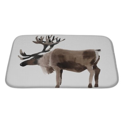 Animals Handwork Watercolor of a Deer Bath Rug Size: Large