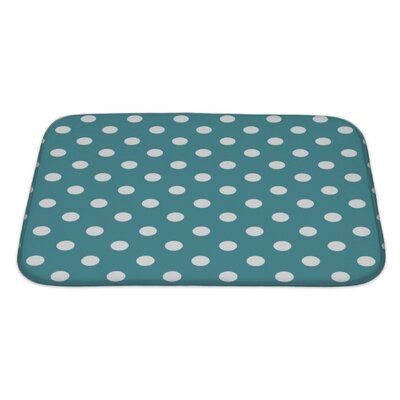 Beta Polka Dots on Ocean Bath Rug Size: Large