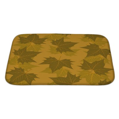 Leaves Maple Leaf Pattern Bath Rug Size: Large