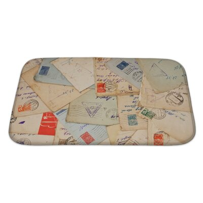 Vintage Old Envelopes Bath Rug Size: Large