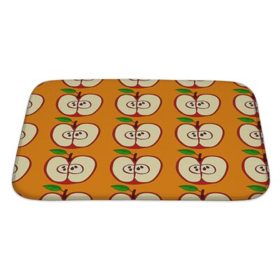 Fruit with Apples and Leaves Isolated Bath Rug Size: Large