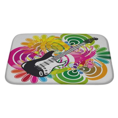 Instruments Electric Guitar Bath Rug Size: Large