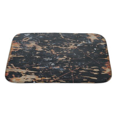 Wood Abstract of Wall Bath Rug Size: Large
