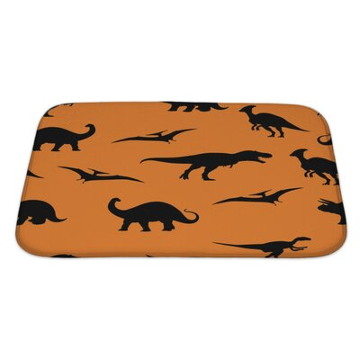 Dinosaurs Jurassic Bath Rug Size: Large