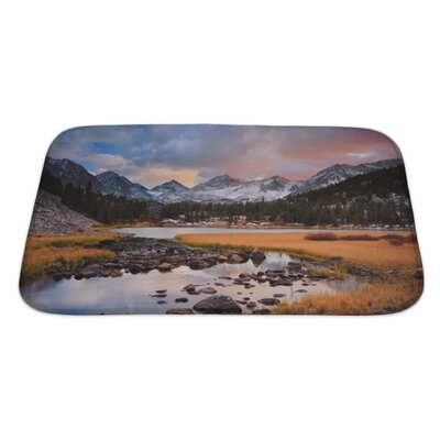 Landscapes Amazing Landscape, Beautiful Mountain Sunset Bath Rug Size: Large