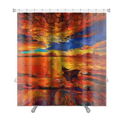 Art Alpha Original Oil Painting of Boa Premium Shower Curtain