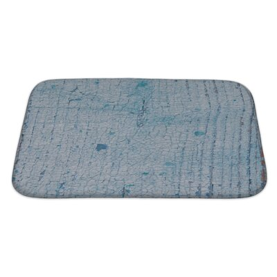 Wood Cracked Paint Bath Rug Size: Large