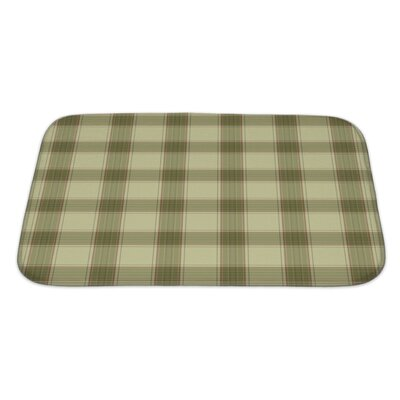 Picnic Plaid in Soft Tones with Terra Cotta Accents Bath Rug Size: Large