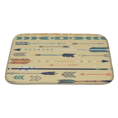 Tribal Cute Hipster Arrows, Hand Drawn Doodles Bath Rug Size: Large
