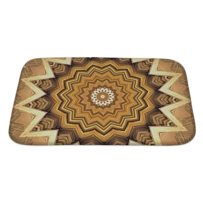 Primo Abstract Kaleidoscope Bath Rug Size: Large