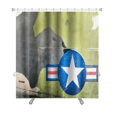 Patriotic Airplane with United States Air Force Sign Premium Shower Curtain
