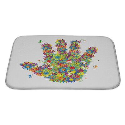 Human Touch Floral Hand Shape See also Floral Style Bath Rug Size: Large