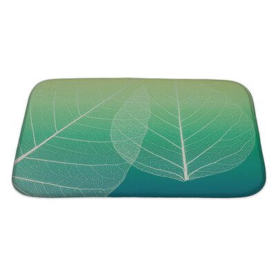 Leaves Leaves Silhouette on Colorful Bath Rug Size: Large