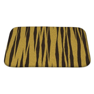 Art Beta Abstract Tiger Close Up Bath Rug Size: Large