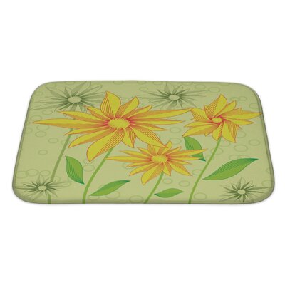 Flowers Abstract Flowers Bath Rug Size: Large