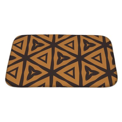 Creek Abstract Based on Tiger Natural Pattern Bath Rug Size: Large