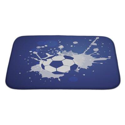 Soccer Grunge Style Football Bath Rug Size: Large