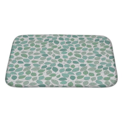 Leaves Stylized Leaf Pattern Bath Rug Size: Large
