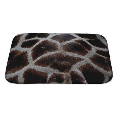 Animals Skin of Giraffe Bath Rug Size: Large